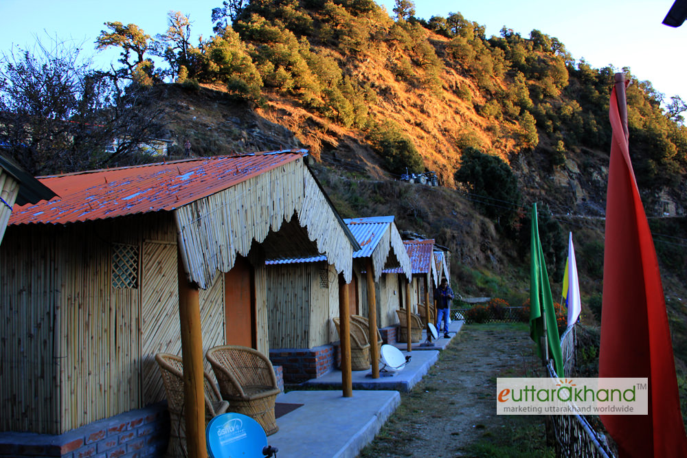 Bamboo huts with all amenities