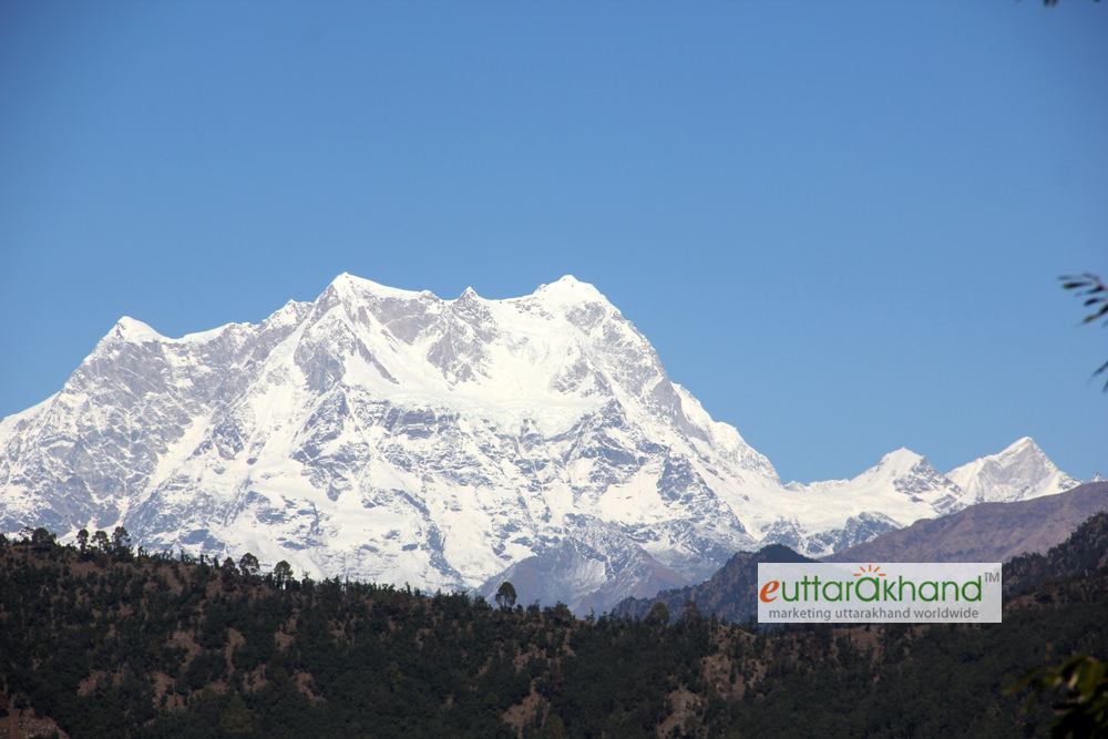 Humongous Chaukhamba as seen during trek