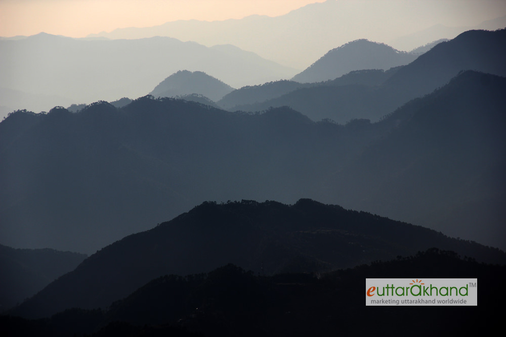 Lower Himalayan ranges as seen during the trek