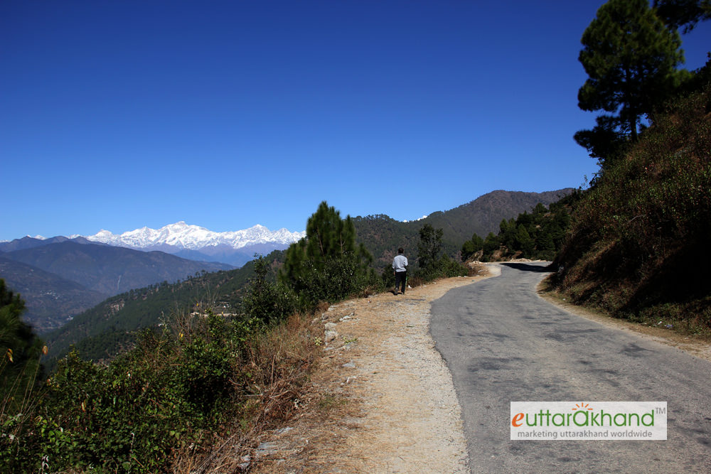 Road from Rudraprayag to Kanakchauri (after 6 kms)