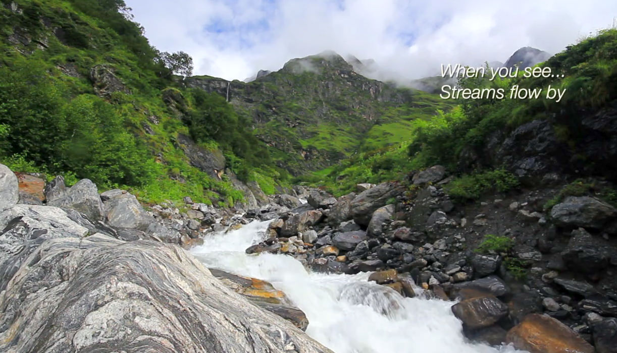 Different Streams forming Pushpawati River in the valley