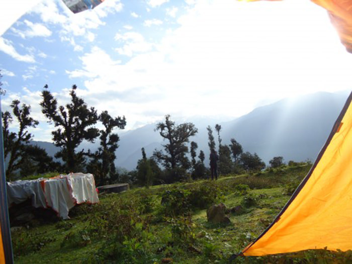 Campsite in Raithal village