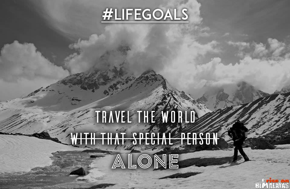 Travel the world alone