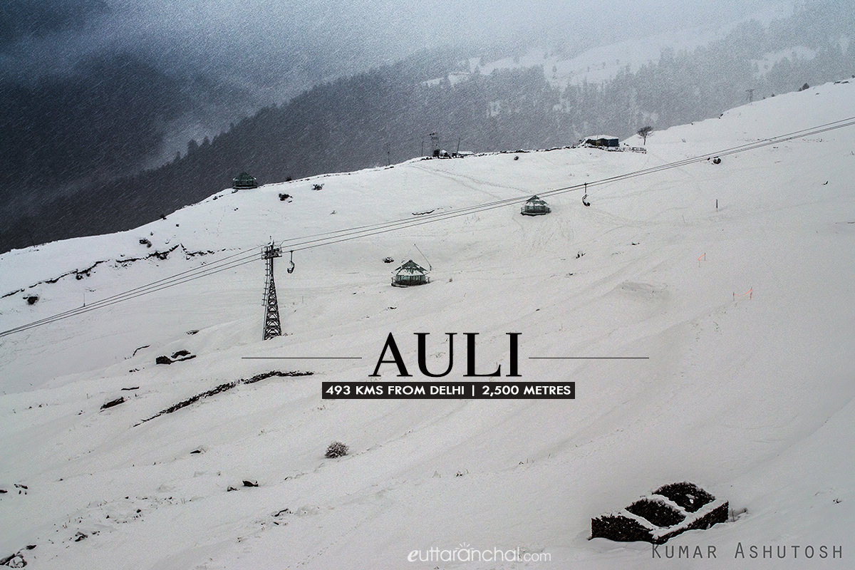 Winter tourism in Auli