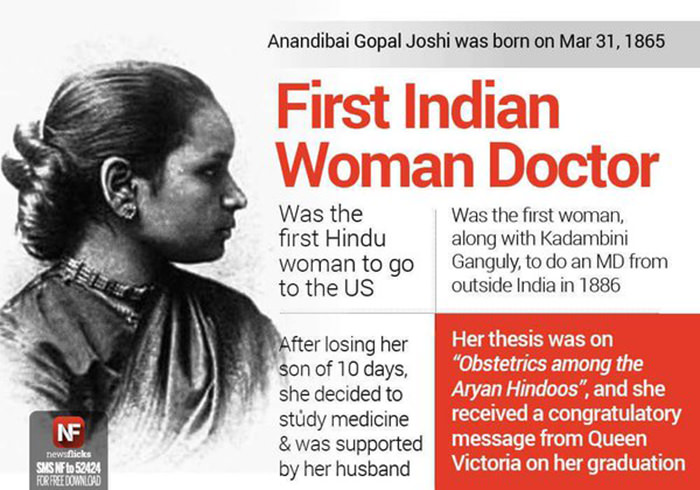 Anandi-First Indian Woman Doctor