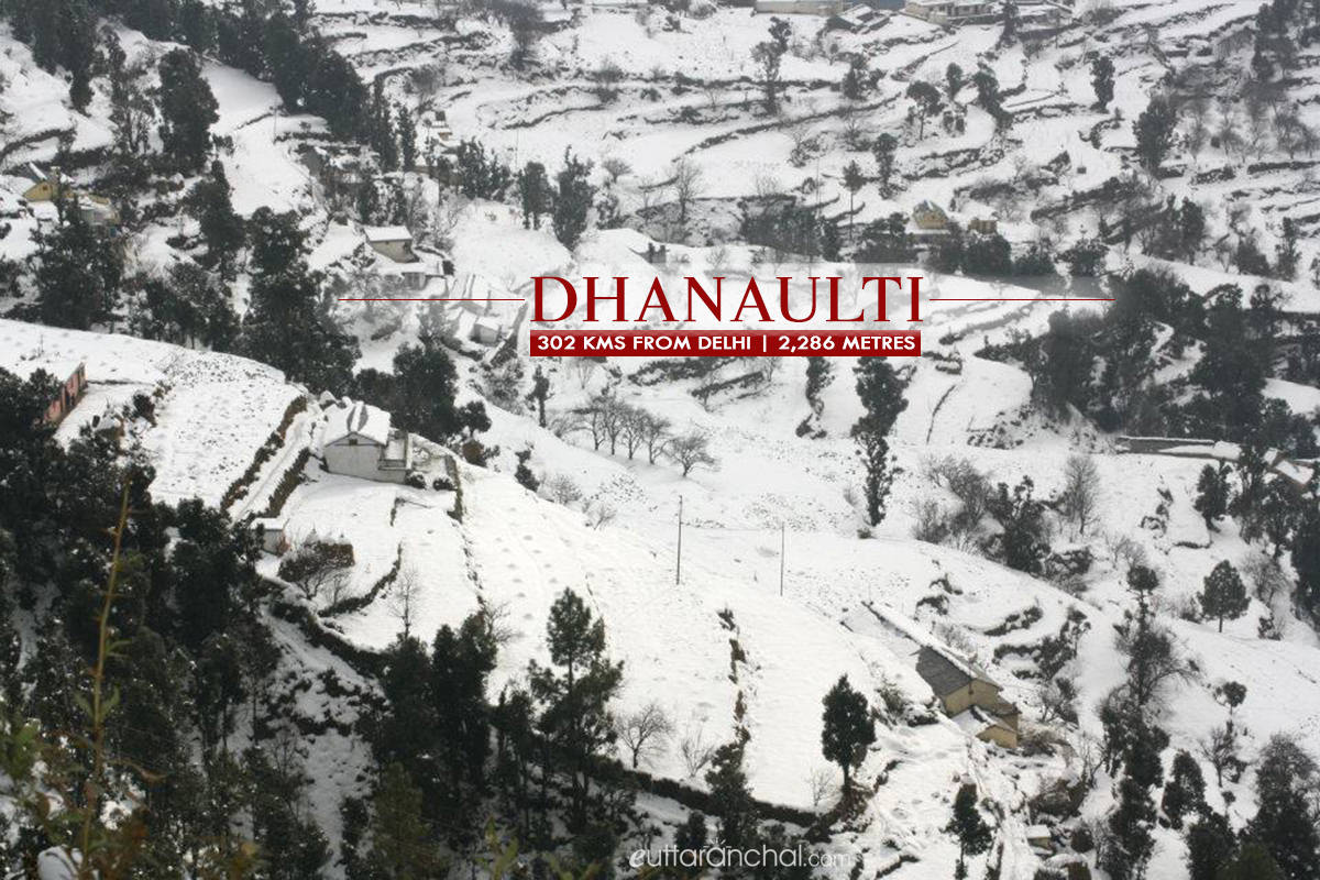 Winter tourism in Dhanaulti