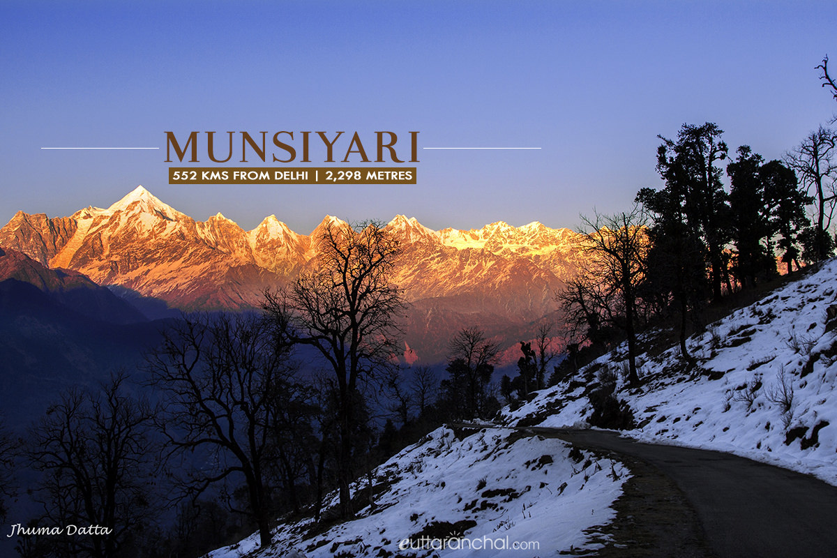 Winter tourism in Munsiyari