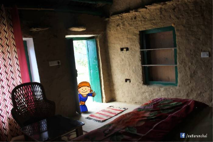 The simple yet classy rooms of Pahadi House remind us of our village house that has been left far behind.