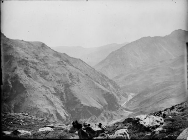 Panorama of Hundes from the pass above Shipki, 1833