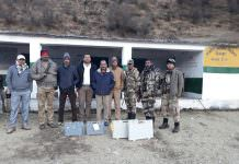 Polling Officials trek through snow for 275 voters in Uttarakhand