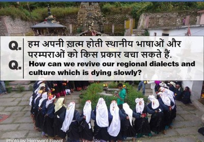 How can we revive our regional dialects and culture which is dying slowly?