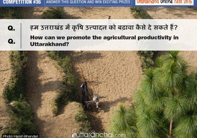 How can we promote the agricultural productivity in Uttarakhand?