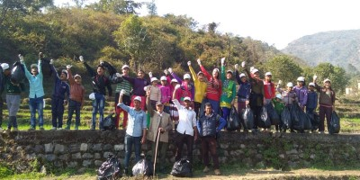 Clean up drive at Maral Village near Rishikesh