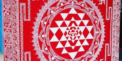 Aipan: Flamboyant and eye catchy art form of Kumaon.