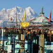 Kartik Swami Temple with Chaukhamba Peaks at the back