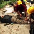 Treating injured pilgrims